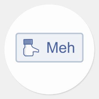 Meh - Facebook ラウンドシール