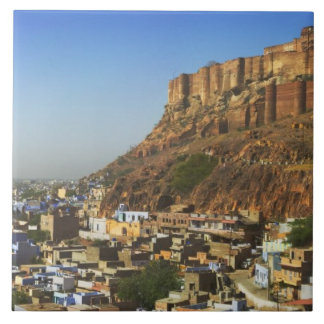 Meherangarhの青い都市の都市景観 正方形タイル大