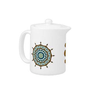 Mehndiのファンタジーの銅の茶ポット