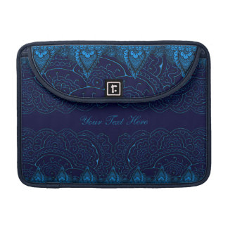 Mehndiの壮麗な曼荼羅(青い) MacBook Proスリーブ