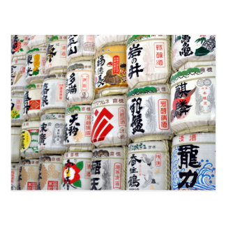 Meijiの神社の為の大樽 ポストカード
