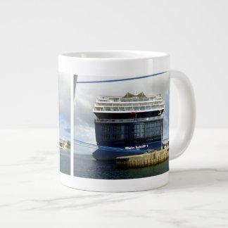 Meinシッフ1の船尾 ジャンボコーヒーマグカップ