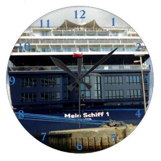 Meinシッフ1の船尾 ラージ壁時計