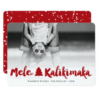 MeleのKalikimakaによってブラシをかけられる原稿の休日の写真カード カード
