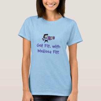 Melissa適合の適合を、得て下さい Tシャツ