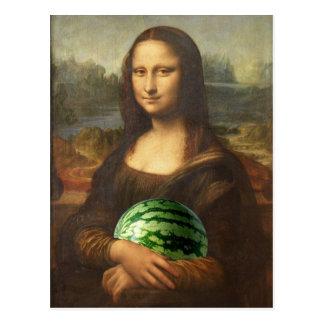Melonaリサは幸せな国民のスイカ日を望みます ポストカード