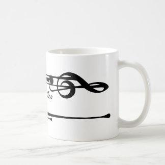 MELTPOINTの白く黒いト音記号「Il Maestro コーヒーマグカップ