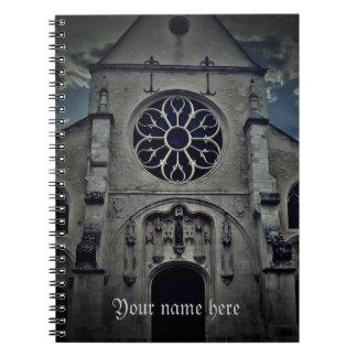 Melun、フランスの教会 ノートブック