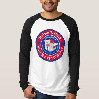 Melvin T. Minkの男性ずっと袖の野球のワイシャツ Tシャツ