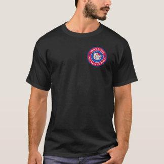 Melvin T. Minkの男性暗いTシャツ Tシャツ