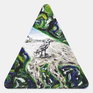 Memeticプロセス-カスタムなプリント! 三角形シール