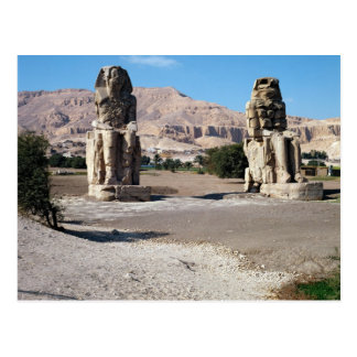Memnonの大国、Amenhotepの彫像 ポストカード