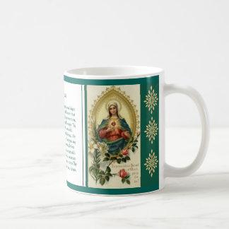 Memorareの祈りの言葉のマグ コーヒーマグカップ