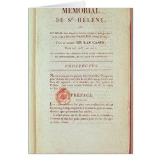 「Memorial de Sainte-Helene'の最初ページ カード