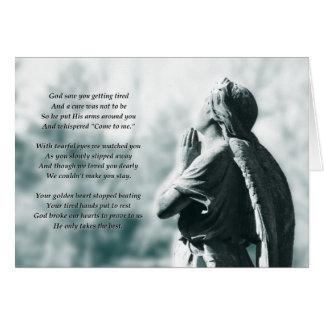 memoriamの天使の祈りの言葉 カード