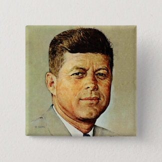 MEMORIAM 2のJohn F Kennedy 5.1cm 正方形バッジ