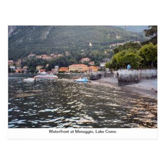 Menaggioの湖Comoの水辺地帯 ポストカード