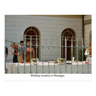 Menaggioの結婚披露宴 ポストカード