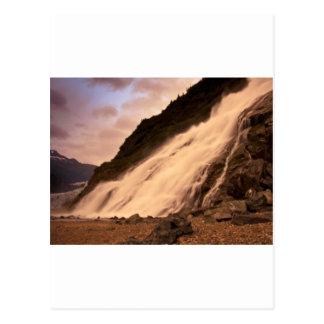 Mendenhallの氷河滝 ポストカード