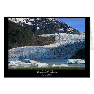 Mendenhallの氷河/ジュノーアラスカ ノートカード