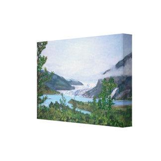 Mendenhallの氷河-伸ばされたキャンバスのプリント キャンバスプリント