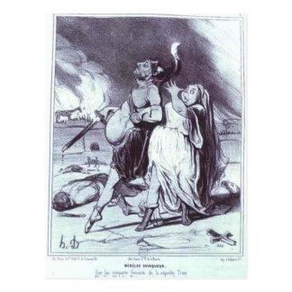 Menelas Honore Daumier著勝利者 ポストカード