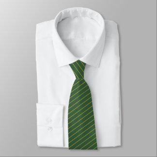 Men's Hunter Green and Gold Striped Tie カスタムタイ