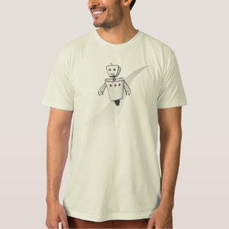Men's Organic Runaway Robot T-Shirt (Sketch) Tシャツ