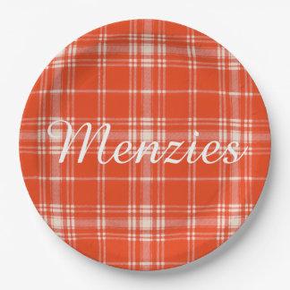 Menziesの一族の格子縞のスコットランド人のタータンチェック ペーパープレート