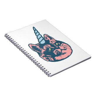 Meowgical Kittycornの荒い息猫のミーム ノートブック
