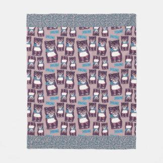 Meowtown Fleece Blanket Medium Size フリースブランケット