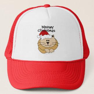 Meowyのクリスマスのかわいい漫画猫のカスタム キャップ