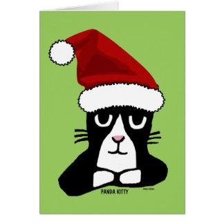 MEOWYのクリスマスのパンダの子猫の挨拶状 カード