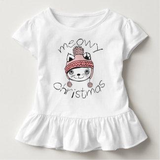 Meowyのクリスマスの幼児のひだのティー トドラーTシャツ