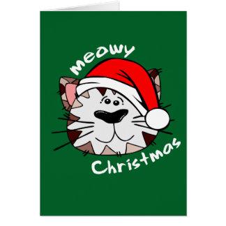 Meowyのクリスマスの挨拶状 カード
