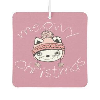 Meowyのクリスマスの正方形の芳香剤、新しい車 カーエアーフレッシュナー