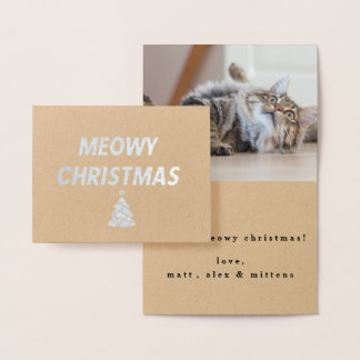 Meowyのクリスマスカード 箔カード