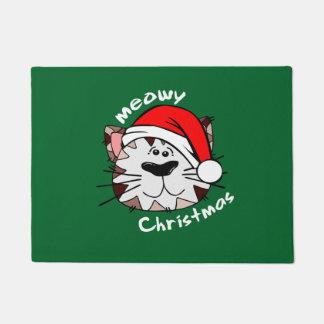 """Meowyのクリスマス18"""" x 24""""ドア・マット ドアマット"""