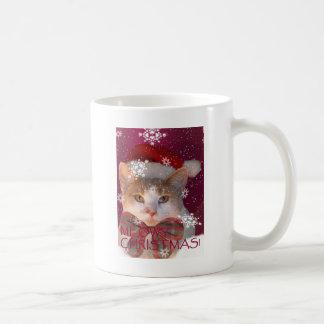 Meowyのクリスマス コーヒーマグカップ