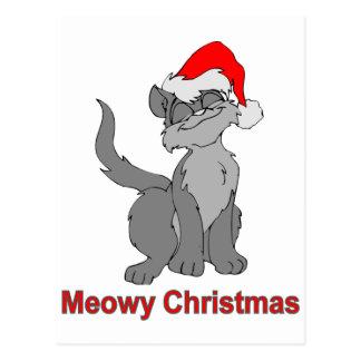 Meowyのクリスマス ポストカード
