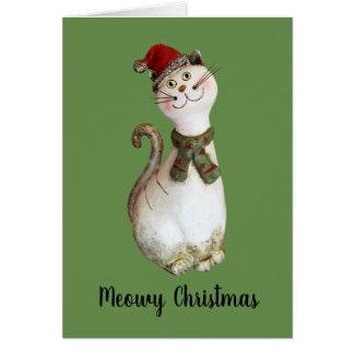 Meowy Christmas カード