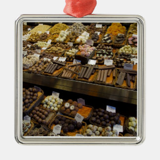 Mercat de Santジュゼップの分類されたチョコレート・キャンディ メタルオーナメント