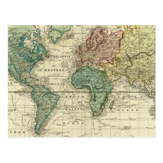 Mercatorsの投射の世界 ポストカード