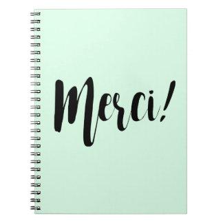 Merciのノートのパステルのミント ノートブック