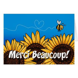 merciのbeaucoup! (フランスのなサンキューカード) カード