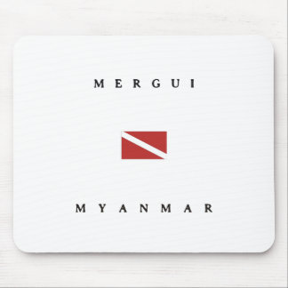 Merguiミャンマーのスキューバ飛び込みの旗 マウスパッド