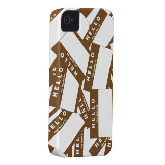 Merhabaのアイボリーの(ブラウン) iPhoneの場合 Case-Mate iPhone 4 ケース