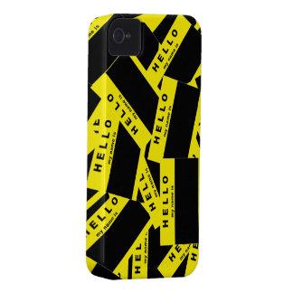 Merhabaの黒檀の(黄色い) iPhoneの箱 Case-Mate iPhone 4 ケース