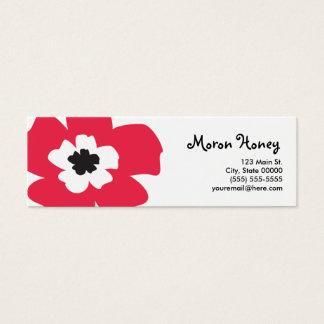 Meriの細いプロフィールカード スキニー名刺