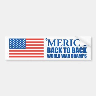 Mericaの続けて世界大戦はステッカーをむしゃむしゃ食べます バンパーステッカー